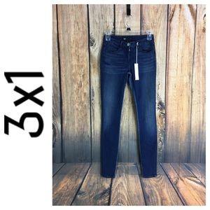 ☮️3x1 Channel Mid Rise Skinny jean size 24